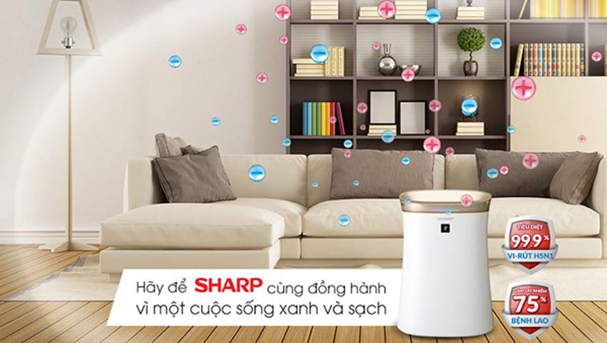 Máy lọc không khí Sharpđem sự trong lành cho gia đình bạn