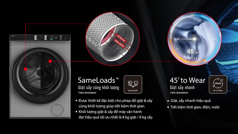 Máy giặt Toshiba TWDBH90W4V